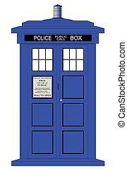 caja, policía, británico