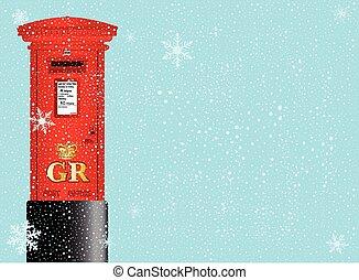 Caja postal de Navidad