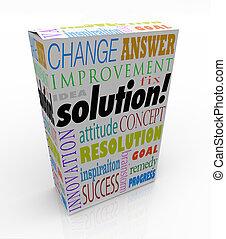 caja, producto, de, estante, solución, idea, respuesta, nuevo