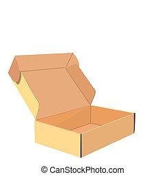 caja, realista, ilustración