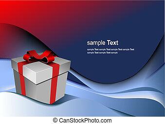 caja, regalo, holiday., ilustración, brillante, vector, cualesquiera