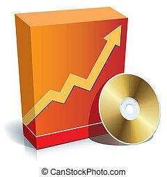 caja, software, cd