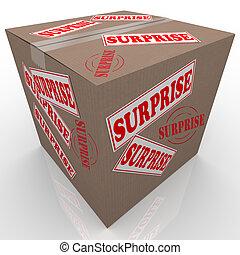 caja, sorpresa, shipped, cartón, paquete