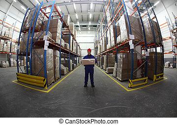 caja, trabajador