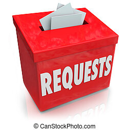 caja, wants, deseos, ideas, someter, sugerencia, requests