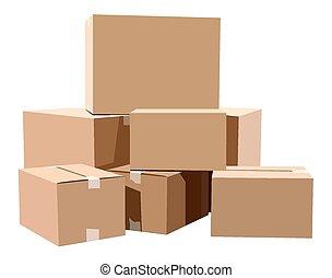 cajas, cartón