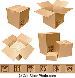 Cajas de cartón.