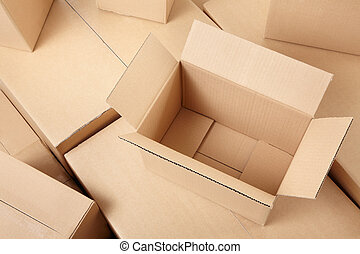 Cajas de cartón de fondo