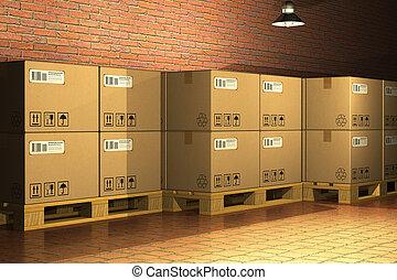 Cajas de cartón en folletos