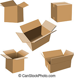 Cajas de cartón listas