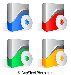 Cajas de software.