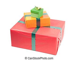 cajas, presente