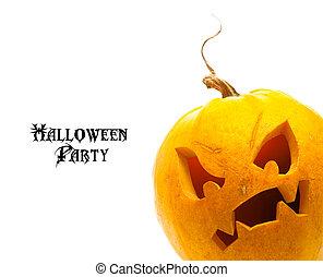Calabaza de Halloween aislada en un fondo blanco