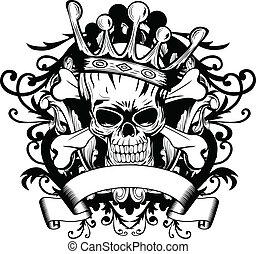 Calavera con corona