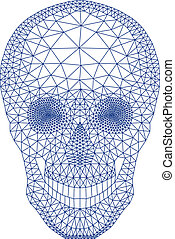 Calavera con patrón geométrico, vecto