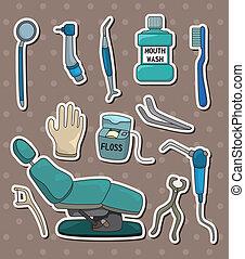 Calcomanías de herramientas de dentista