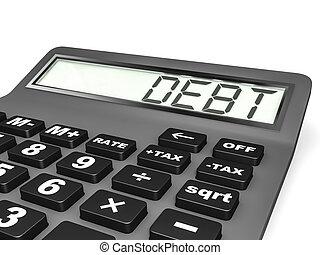 Calculador con DEPT en exhibición.
