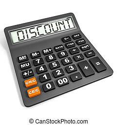 Calculador con DISCOUNT en exhibición.