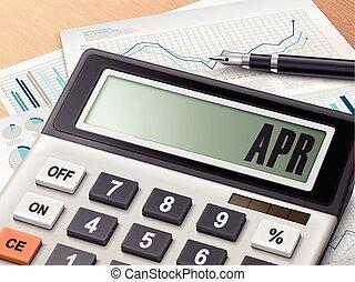 Calculador con la palabra APR