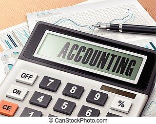 Calculador con la palabra contabilidad