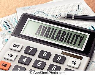 Calculador con la palabra disponibilidad
