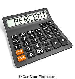 Calculador con percente en exhibición.