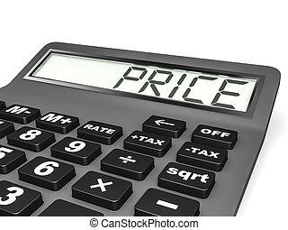 Calculador con PRICE en exhibición.