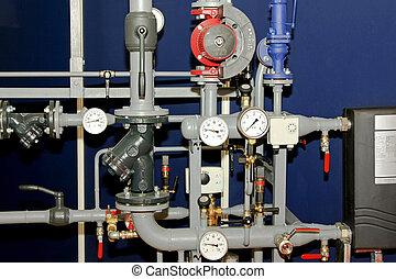 calefacción, tubos