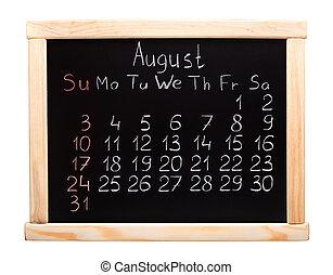 Calendar 2014. Agosto