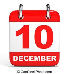 Calendario. 10 de diciembre.