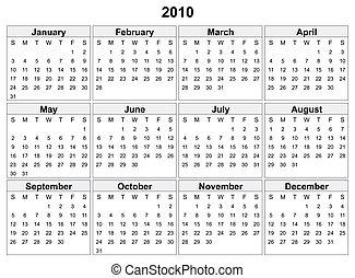 Calendario de 2010.