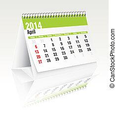 Calendario de escritorio de Abril 2014