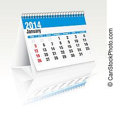 Calendario de escritorio de enero 2014