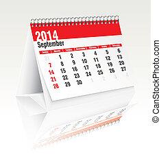 Calendario de escritorio de septiembre 2014
