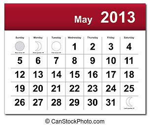 calendario de mayo de 2013