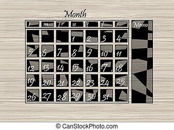 Calendario de pared en madera