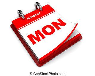 calendario, lunes