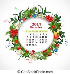 Calendario para 2014, Diciembre