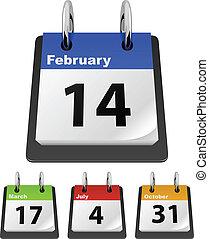 calendario, plantilla