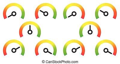 calibrador, elemento, infographic, metro, señales