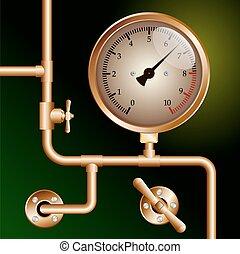 Calibre de presión del motor de tracción de vapor