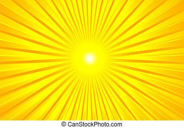 Caliente sol de verano