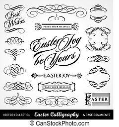 Caligrafía de Pascua (vector)