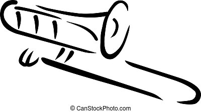 caligraphy, trombón, estilo