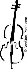 caligraphy, violoncelo, estilo