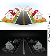 Calle de casas