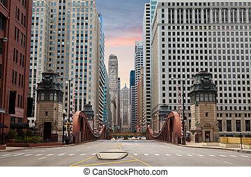 Calle de Chicago.
