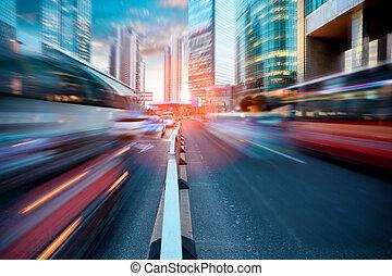 Calle Dynamic en la ciudad moderna