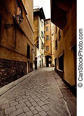 calle, italia, firenze, ciudad