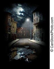 calle, noche